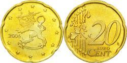 World Coins - Finland, 20 Euro Cent, 2006, , Brass, KM:102
