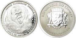 World Coins - Coin, Congo Republic, Gorille à dos argenté, 5000 Francs CFA, 2019, Proof
