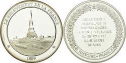 World Coins - France, Medal, Paris - La Tour Eiffel, History, , Silver