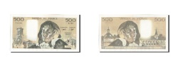 World Coins - France, 500 Francs, 500 F 1968-1993 ''Pascal'', 1982, KM #156e, EF(40-45),...