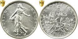 Ancient Coins - Coin, France, Semeuse, 5 Francs, 1961, Paris, PCGS, MS65, Silver, KM:926