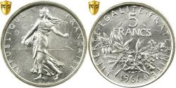 World Coins - Coin, France, Semeuse, 5 Francs, 1961, Paris, PCGS, MS65, Silver, KM:926