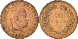 World Coins - Coin, Portugal, Carlos I, 10 Reis, 1891, Portugal Mint, Paris,