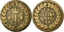 World Coins - Coin, France, Louis XVIII, Decime, 1815, Strasbourg, , Bronze, KM:701