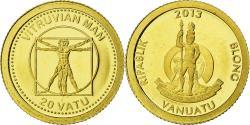 World Coins - Coin, Vanuatu, 20 Vatu, 2013, British Royal Mint, , Gold