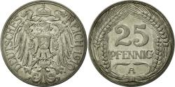 World Coins - Coin, GERMANY - EMPIRE, Wilhelm II, 25 Pfennig, 1910, Berlin, AU(50-53), Nickel