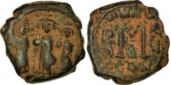 Ancient Coins - Coin, Heraclius, with Martina and Heraclius Constantine, Follis, 624-625