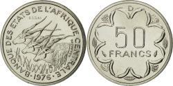World Coins - Coin, Central African States, 50 Francs, 1976, Paris, ESSAI, , Nickel