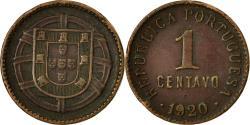 World Coins - Coin, Portugal, Centavo, 1920, , Bronze, KM:565
