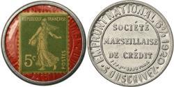 World Coins - Coin, France, Société Marseillaise de Crédit, 5 Centimes, Timbre-Monnaie