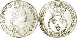 World Coins - Coin, France, Louis XV, 1/10 Écu Vertugadin, 12 Sols, 1/10 ECU, 1716, Bordeaux