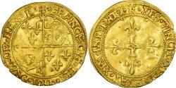 World Coins - Coin, France, Dauphiné, François Ier, Écu d'or au soleil, 1519, Romans