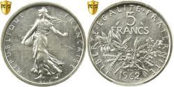 Ancient Coins - Coin, France, Semeuse, 5 Francs, 1962, Paris, PCGS, MS65, Silver, KM:926