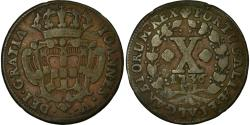 World Coins - Coin, Portugal, Joao V, 10 Reis, X; 1/2 Vinten, 1736, Lisbon, , Copper