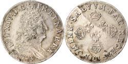 World Coins - Coin, France, Louis XIV, 11 Sols aux couronnes de Strasbourg, 10 Sols-1/8 Ecu