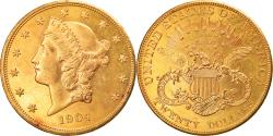 Us Coins - Coin, United States, Liberty Head, $20, 1904, Philadelphia, Prooflike,