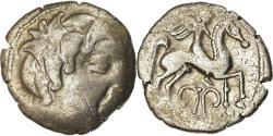Ancient Coins - Coin, Pictones, Drachme au cavalié ailé, Ist century BC, , Electrum