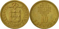 World Coins - Portugal, 10 Escudos, 1996, , Nickel-brass, KM:633