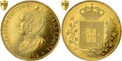 World Coins - Coin, Portugal, Maria II, Peca, 6400 Reis, 1834, Lisbon, PCGS, AU58, AU(55-58)