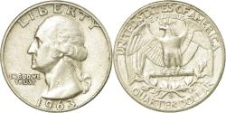 Us Coins - Coin, United States, Washington Quarter, Quarter, 1963, U.S. Mint, Denver