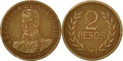 World Coins - Coin, Colombia, 2 Pesos, 1977, , Bronze, KM:263