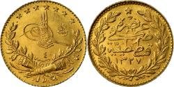 Ancient Coins - Coin, Turkey, Muhammad V, 25 Kurush, 1912, Qustantiniyah, , Gold