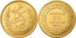 World Coins - Coin, Tunisia, Ali Bey, 10 Francs, 1891, Paris, , Gold, KM:226