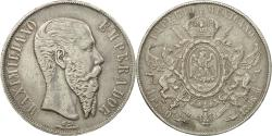 World Coins - Coin, Mexico, Maximilian, Peso, 1866, Mexico City, , Silver, KM:388.1