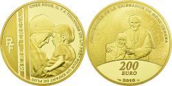 World Coins - France, 200 Euro, Mère Teresa et Jean-Paul II, 2010, , Gold, KM:1693