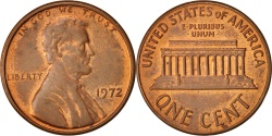 Us Coins - United States, Lincoln Cent, Cent, 1972, U.S. Mint, Philadelphia,