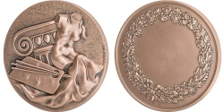 World Coins - FRANCE, Arts & Culture, The Fifth Republic, Medal, , Bronze, 68, 175.00