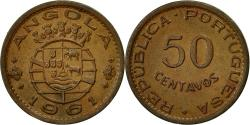 World Coins - Angola, 50 Centavos, 1961, , Bronze, KM:75