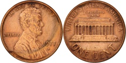 Us Coins - United States, Lincoln Cent, 1977, Denver, , KM:201