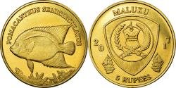 World Coins - Coin, Congo Democratic Republic, 5 Rupees, 2017, Maluku - Pomacanthus