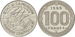 World Coins - CAMEROON, 100 Francs, 1966, Paris, KM #E11, , Nickel, 12.03
