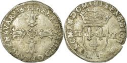 World Coins - Coin, France, Henri IV, 1/4 Ecu, 1605, Bayonne, , Silver, Sombart:4686
