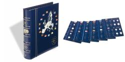 World Coins - Album, Blue, with 6 pages, with slipcase, Leuchtturm:341040