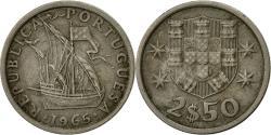 World Coins - Portugal, 2-1/2 Escudos, 1965, , Copper-nickel, KM:590