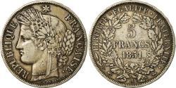 Ancient Coins - Coin, France, Cérès, 5 Francs, 1851, Paris, , Silver, KM:761.1
