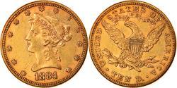Us Coins - Coin, United States, Coronet Head, $10, Eagle, 1884, U.S. Mint, Philadelphia