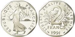 World Coins - Coin, France, Semeuse, 2 Francs, 1991, Paris, Proof, , Nickel
