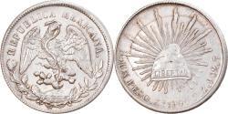 World Coins - Coin, Mexico, Peso, 1900, Zacatecas, , Silver, KM:409.3