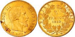 World Coins - Coin, France, Napoleon III, Napoléon III, 5 Francs, 1859, Paris,