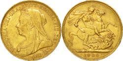World Coins - Coin, Australia, Victoria, Sovereign, 1900, Perth, , Gold, KM:13