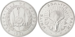 World Coins - DJIBOUTI, 5 Francs, 1991, Paris, KM #22, , Aluminum, 31.1, 3.80