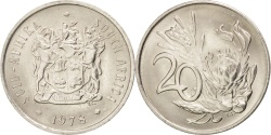 World Coins - SOUTH AFRICA, 20 Cents, 1978, KM #86, , Nickel, 24.2, 5.99