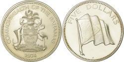World Coins - Coin, Bahamas, Elizabeth II, 5 Dollars, 1974, Franklin Mint, U.S.A., Proof
