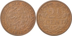 World Coins - NETHERLANDS, 2-1/2 Cent, 1912, KM #150, , Bronze, 23.4, 3.98