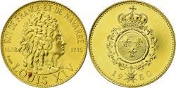 World Coins - France, Medal, Les rois de France, Louis XIV, Louis XIV, History, 1980