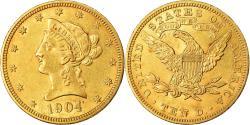 Us Coins - Coin, United States, Coronet Head, $10, Eagle, 1904, U.S. Mint, Philadelphia